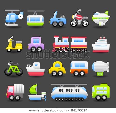 Desenho animado veículos cor preto tráfego branco Foto stock © carbouval