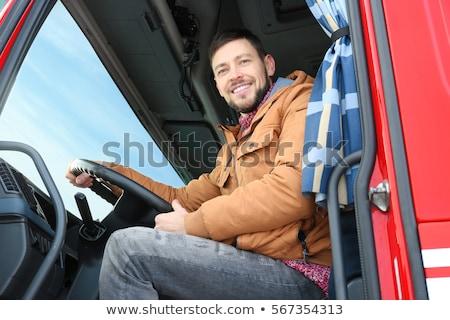 Foto stock: Speeding Transportation Delivery Truck On Open Highway
