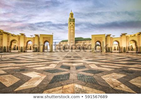 Minare şehir Fas işaret mimari seyahat Stok fotoğraf © tony4urban