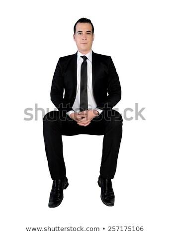 ビジネスマン · 立って · 階 · 孤立した · ビジネスマン · オフィス - ストックフォト © fuzzbones0
