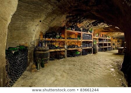Csendélet borospince Csehország bor üveg tank Stock fotó © phbcz