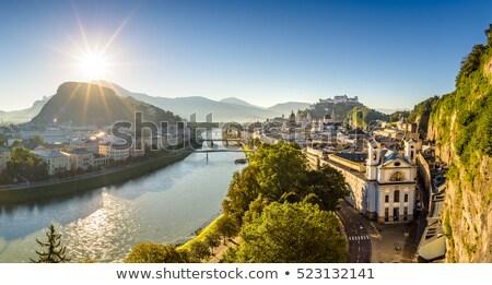 View over Salzburg city in Europe Stock photo © sarahdoow
