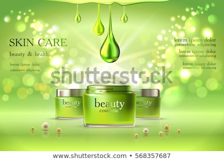 3d woman with green bottle concept Stock photo © nithin_abraham