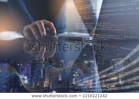 produtividade · laptop · tela · aterrissagem - foto stock © tashatuvango