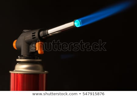 Stock photo: Blowtorch with the blue flame