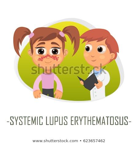 betegség · nyomtatott · diagnózis · orvosi · narancs · sztetoszkóp - stock fotó © tashatuvango