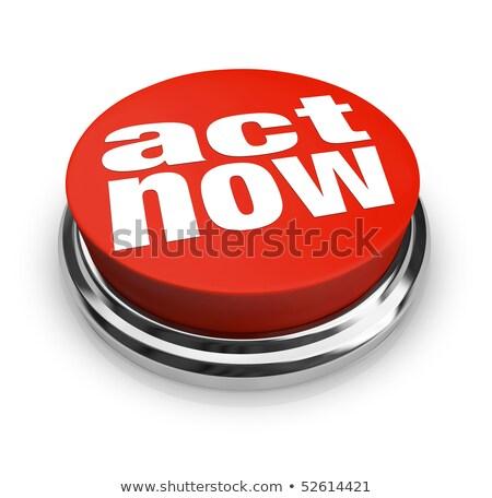 hareket · şimdi · kırmızı · düğme · el · imleç - stok fotoğraf © fuzzbones0