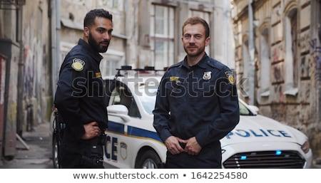 Sorridente policial sempre guarda sorrir óculos de sol Foto stock © ensiferrum