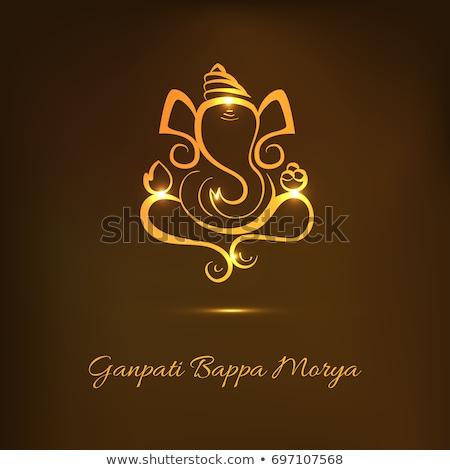 実例 · 祭り · インド · メッセージ - ストックフォト © pathakdesigner