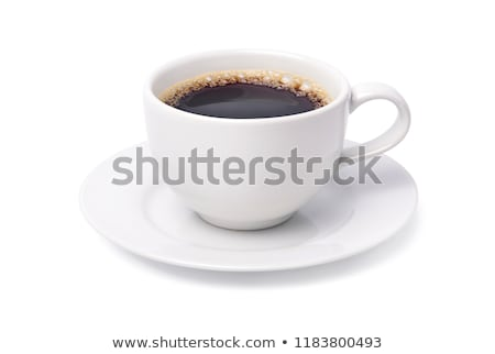 Zwarte koffie witte beker geïsoleerd koffie tabel Stockfoto © tetkoren