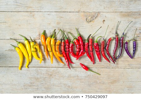 Stock photo: Whole, uncut red chili pepper