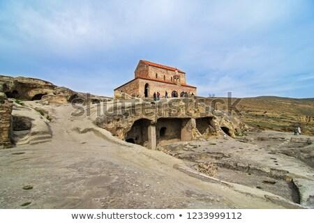 ancient orthodox church in antique cave city uplistsikhe georgia stock photo © master1305