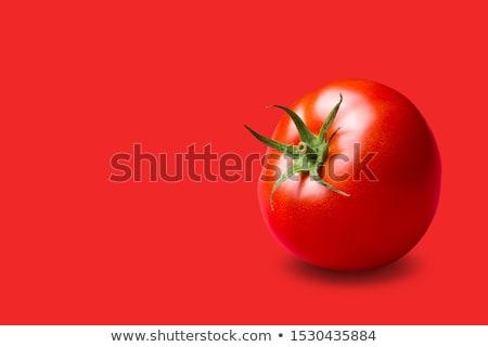 Kırmızı domates Asya genç kadın Stok fotoğraf © fatalsweets