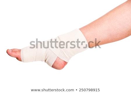 Kostka odizolowany elastyczny bandaż biały powrót Zdjęcia stock © dcwcreations