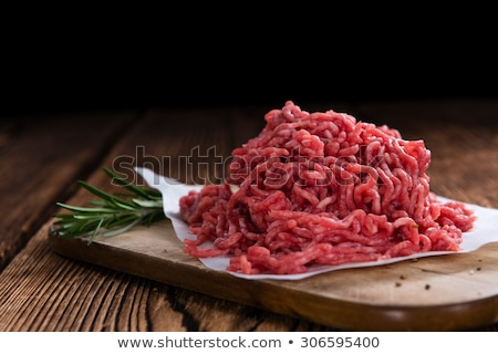 detail of raw minced meat stock photo © jirkaejc