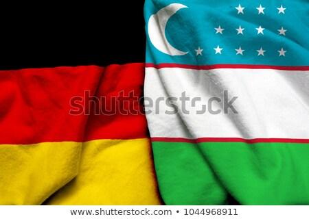 Németország Üzbegisztán zászlók puzzle izolált fehér Stock fotó © Istanbul2009