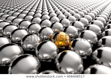 One golden ball among white ones concept image. Stock photo © lenapix