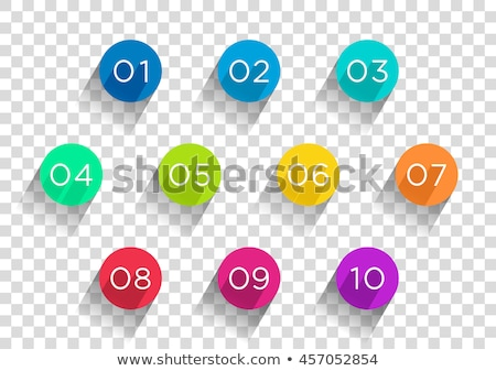 0 number vector red web icon stock photo © rizwanali3d