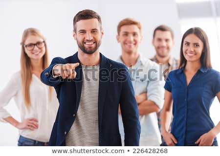 young office team with fingers gestures stock photo © paha_l