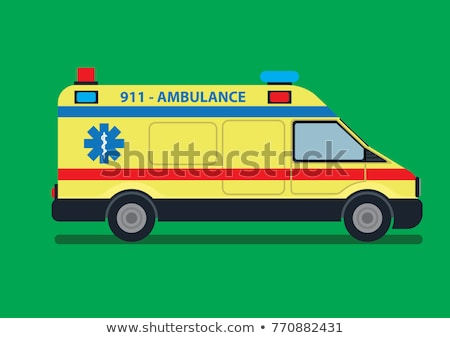 Ambulance Geel vector icon ontwerp digitale Stockfoto © rizwanali3d
