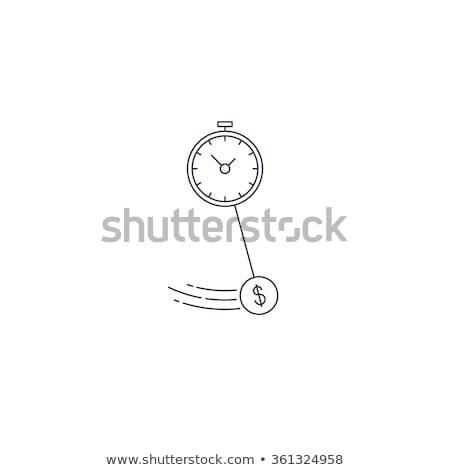 muur · klok · ontwerp · vector · stijl · elegante - stockfoto © rastudio
