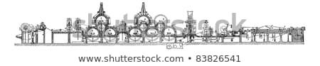 Makine bağbozumu oyma oyulmuş örnek ansiklopedi Stok fotoğraf © Morphart
