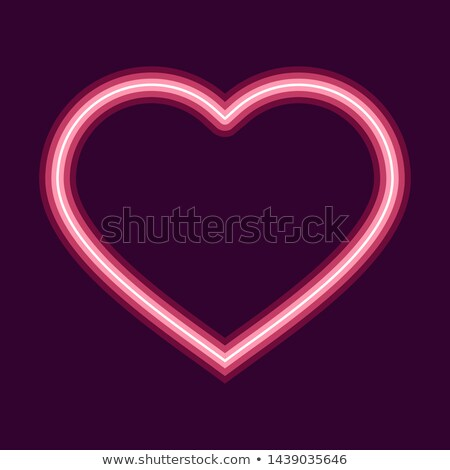 Stock photo: I love you. Heart shape of neon