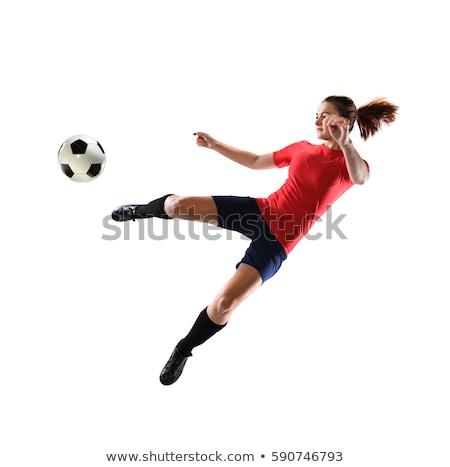 kobieta · biały · piłka · nożna · sportu · model - zdjęcia stock © elnur