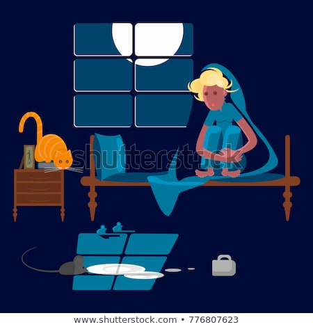 Mouse Scare Girl Stock photo © Soleil