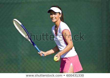 tennisspeler · wachten · knap · bal · gezicht · man - stockfoto © filipw
