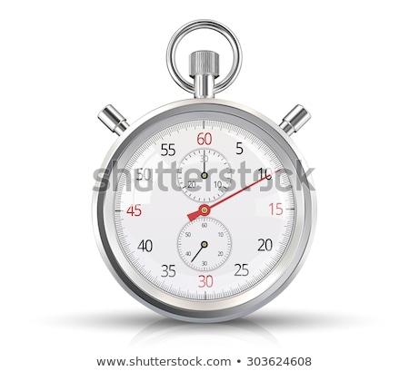 vector · chroom · stopwatch · ingesteld · analoog · eps8 - stockfoto © ayaxmr