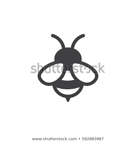vektor · ikonok · méhek · méz · méh · ikon - stock fotó © freesoulproduction