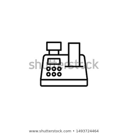 Caisse enregistreuse icône symbole illustration design Shopping Photo stock © kiddaikiddee