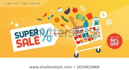 Clearance Shopping Cart Stock photo © idesign