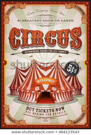 cirkusz · kupola · piros · citromsárga · család · buli - stock fotó © lightsource
