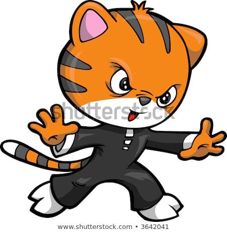 Ninja cartoon vector grafische kunst ontwerp Stockfoto © vector1st