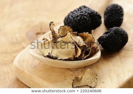 Siyah mantar gurme sebze gıda sebze Stok fotoğraf © joannawnuk