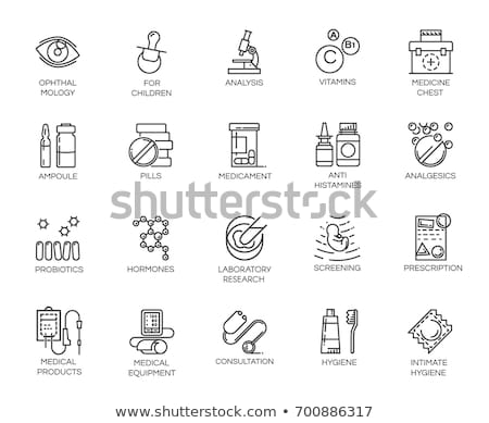 condoms icons on white background stock photo © tkacchuk