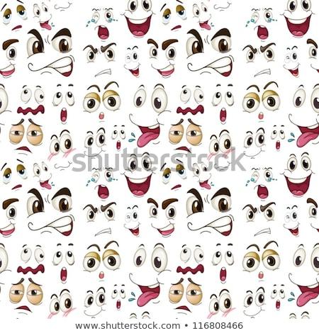 Chłopca wiele mimiki ilustracja twarz oczy Zdjęcia stock © bluering
