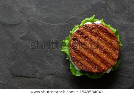 rundvlees · hamburger · schimmelkaas · eigengemaakt · nachos · chips - stockfoto © digifoodstock