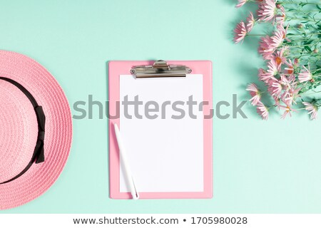A light pink empty template with flowers Stock photo © bluering