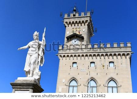 статуя свободы общественного дворец Сан-Марино Италия Сток-фото © goce