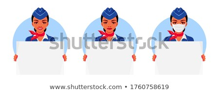 A head of an air hostess Stock photo © bluering