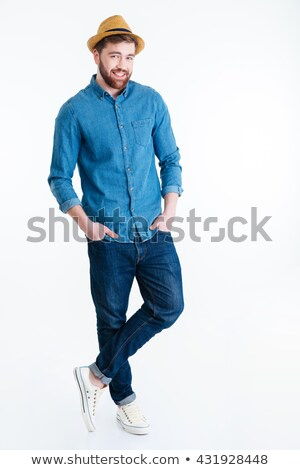 moço · mãos · branco · homem · feliz · jovem - foto stock © deandrobot