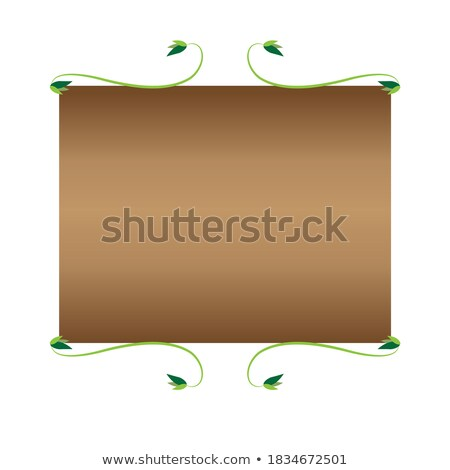 An empty signboard at the back of the plants Stock photo © bluering