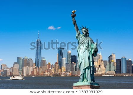 standbeeld · vrijheid · New · York · City · hemel · Blauw · rivier - stockfoto © simply