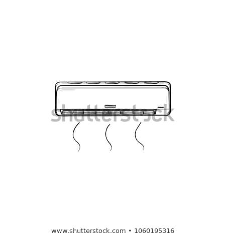 air conditioner sketch icon stock photo © rastudio