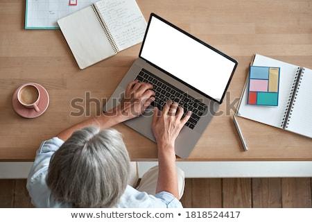 Biuro życia kobiet ręce pracy laptop Zdjęcia stock © stevanovicigor
