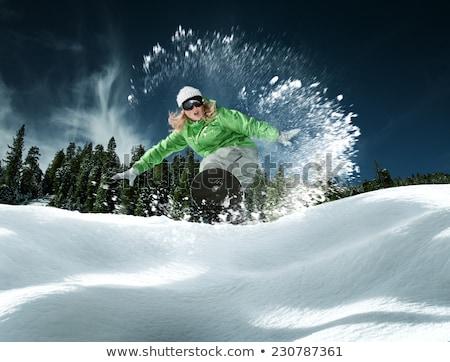 девушки лыжник иллюстрация женщину спорт снега Сток-фото © adrenalina