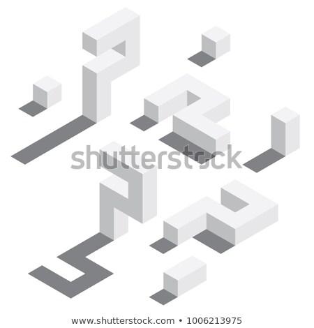 ドロップ 影 桁 番号 7 3D ストックフォト © djmilic